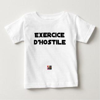 T-shirt Pour Bébé Exercice d'Hostile - Jeux de Mots Francois Ville