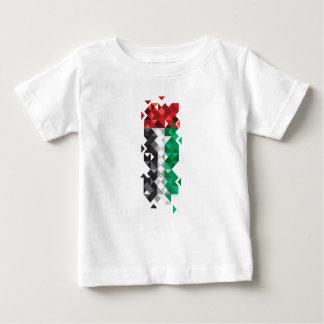 T-shirt Pour Bébé Fabriqué aux EAU, drapeau abstrait des EAU, Arabe