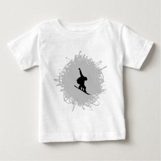 T-shirt Pour Bébé Faire du surf des neiges le style de griffonnage