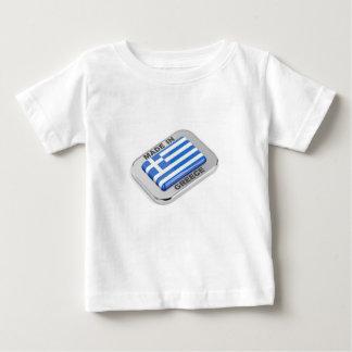 T-shirt Pour Bébé Fait dans l'insigne de la Grèce