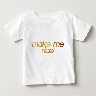T-shirt Pour Bébé Faites-moi le riz ! J'ai faim ! Fin gourmet à la