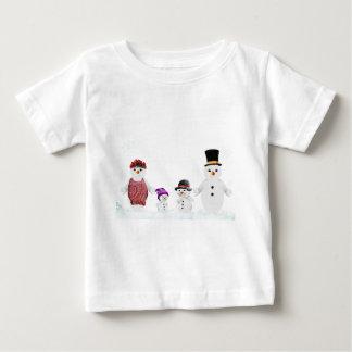 T-shirt Pour Bébé famille de bonhomme de neige