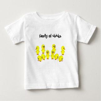 T-shirt Pour Bébé famille des poussins