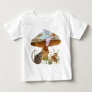 T-shirt Pour Bébé Fée et souris de champignon