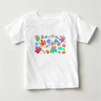 T-shirt Pour Bébé Feuille d'automne coloré