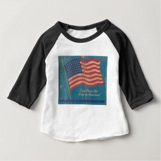T-shirt Pour Bébé Fier vintage d'être copie patriotique américaine