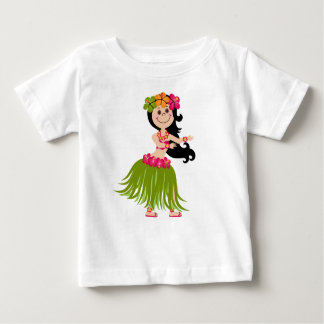T-shirt Pour Bébé Fille hawaïenne