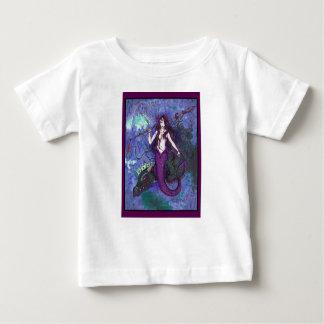 T-shirt Pour Bébé Fille pourpre de sirène avec le serpent de mer de