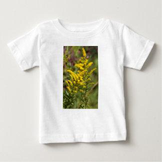 T-shirt Pour Bébé Fleurs sauvages dorés