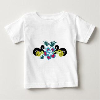 T-shirt Pour Bébé Floral hawaïen