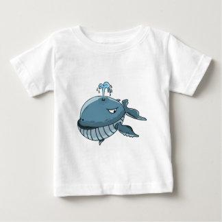 T-shirt Pour Bébé Flottement géant de mer de baleine bleue de bande