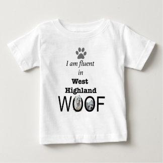 T-shirt Pour Bébé Fluide dans Woof des montagnes occidental