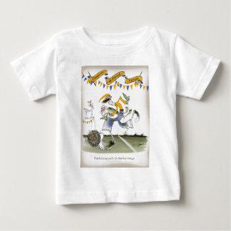 T-shirt Pour Bébé footballer vintage de gauche du Brésil