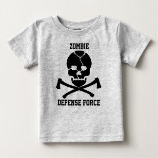 T-shirt Pour Bébé force de défense de zombi de bébés : Crânes et
