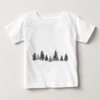 T-shirt Pour Bébé Forêt d'hiver