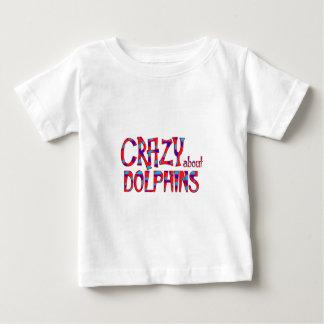 T-shirt Pour Bébé Fou au sujet des dauphins