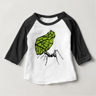 T-shirt Pour Bébé Fourmi de coupe de feuille nature Stencil