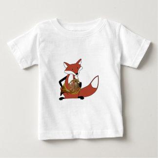 T-shirt Pour Bébé Fox jouant le cor de harmonie