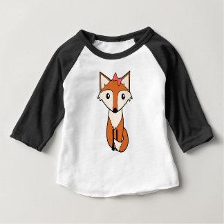 T-shirt Pour Bébé Fox mignon portant un arc de cheveux