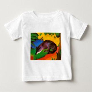 T-shirt Pour Bébé Fox noir bleu de Franz Marc