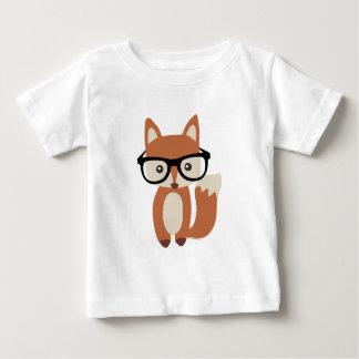 T-shirt Pour Bébé Fox w/Glasses de bébé de hippie