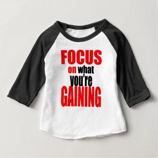 T-shirt Pour Bébé foyer gagnant la motivation optimiste de vue