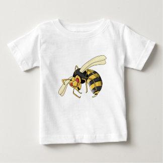 T-shirt Pour Bébé frelon noir et jaune de bande dessinée