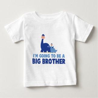 T-shirt Pour Bébé frère de dinosaure à être NOUVEAU bleu