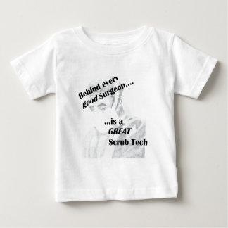 T-shirt Pour Bébé Frottez la technologie