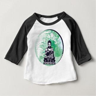 T-shirt Pour Bébé Fumée d'émeraude de vague de Bouddha d'ouragan