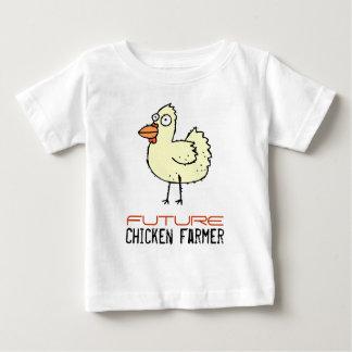 T-shirt Pour Bébé Futur agriculteur de poulet