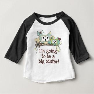 T-shirt Pour Bébé Future grande soeur de hiboux