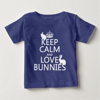 T-shirt Pour Bébé Gardez le calme et aimez les lapins - toutes les