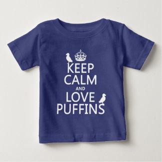 T-shirt Pour Bébé Gardez le calme et aimez les macareux (toute