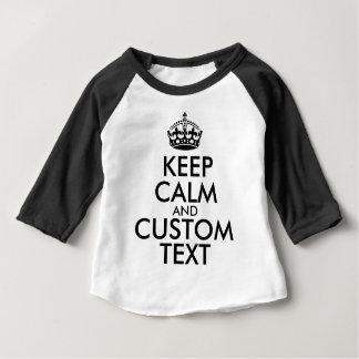 T-shirt Pour Bébé Gardez le calme et créez vos propres font pour