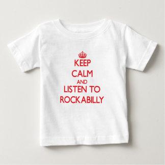 T-shirt Pour Bébé Gardez le calme et écoutez le ROCKABILLY
