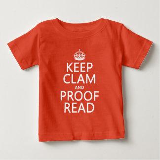 T-shirt Pour Bébé Gardez le calme et le corrigez sur épreuves