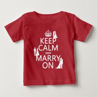 T-shirt Pour Bébé Gardez le calme et mariez sur (tout arrière - plan