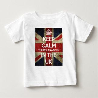 T-shirt Pour Bébé Gardez le calme là est anarchie au R-U