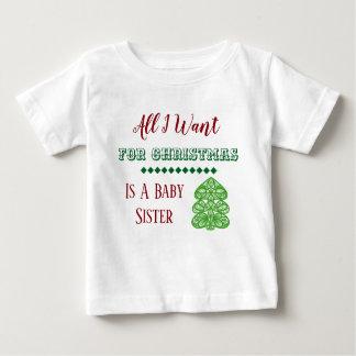T-shirt Pour Bébé Gilet de Noël de soeur de bébé
