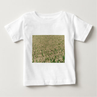 T-shirt Pour Bébé Gisement de maïs de maïs vert à la partie