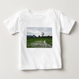 T-shirt Pour Bébé Gisements de riz du Sri Lanka