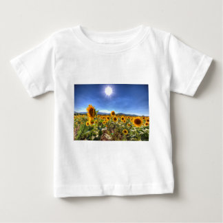 T-shirt Pour Bébé Gisements de tournesol d'été