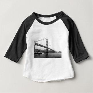 T-shirt Pour Bébé Golden gate bridge noir et blanc