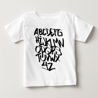 T-shirt Pour Bébé graffiti d'alphabet