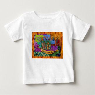 T-shirt Pour Bébé Grand collage terreux rêveur