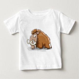 T-shirt Pour Bébé Grand mammouth de bande dessinée de tronc et de