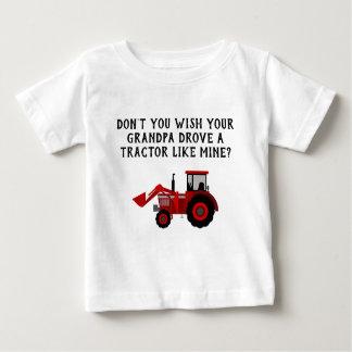 T-shirt Pour Bébé Grand-papa rouge de tracteur de bébé drôle