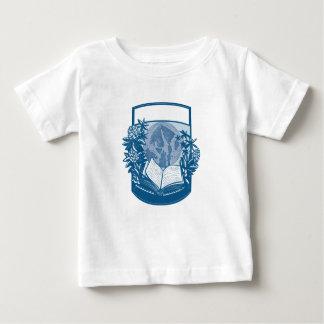 T-shirt Pour Bébé Gravure sur bois en livre d'île d'orques de