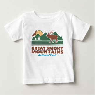T-shirt Pour Bébé Great Smoky Mountains